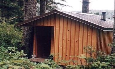Sauna exterior.