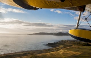 Photo from plane flying over Kodiak, Alaska