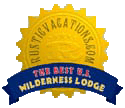 Rustic Vacations The Best US Wilderness Lodge badge.